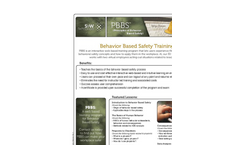 Principles of Behavior Based Safety Training Brochure