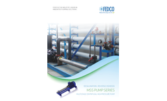 FEDCO - Model MSS Series - Multistage Centrifugal High-Pressure Feed Pumps - Brochure