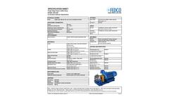 FEDCO - Model MSB Series - Multistage Centrifugal Low-Pressure Feed Pump - Brochure