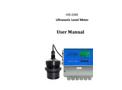 USER MANUAL FOR ULTRASONIC LEVEL METER