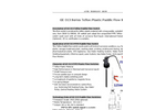 GE-313 series PTFE Teflon Paddle Flow Switches