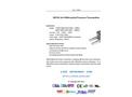 A.YITE - Model GE-920 - Air Differential Pressure Transmitter Datasheet