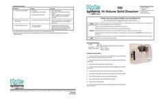 Model 592 - Single Product Dissolver Brochure