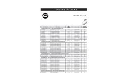 Inline Filter Cartridges- Brochure