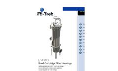 Model L Series - Lined, Vertical Cartridge Filter Housings Datasheet