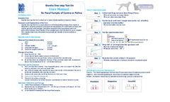 Giardia One-Step Test Kit - User Manual