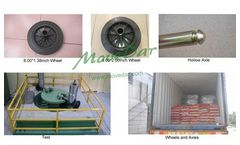 MoveDar - Model BWRP200B - Wheels and Axles For Waste Bins