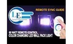 Remote Programming Guide for 60 Watt Remote Control Color Changing LED Wall Pack Light LEDWP-600-RGB Video