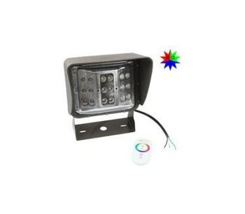 Larson - Model LEDWP-600-RGB - Color Changing LED Wall Pack Light