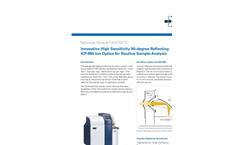 Innovative High Sensitivity 90-degree Reflecting ICP-MS Ion Optics for Routine Sample Analysis