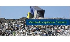 Waste Acceptance Criteria Services