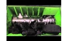 ECO Monster - Single shaft Tire Shredder Video
