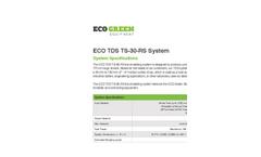 Model ECO TDS TS-30-RS - TDS - Tire Derived Shreds Brochure