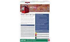 Addfield - Model MP-500 - Pathological Waste Incinerator (500 Kg) - Full Specification Sheet