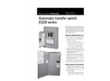 Automatic Transfer Switch EGSX Series Spec Sheet
