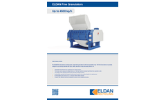 ELDAN FG476 / FG952 / FG1504 - Fine Granulators - Up to 4500 kg/h - Brochure