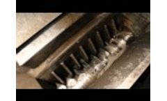 Recycling of Tyre - Eldan Super Chopper & Disc Separator - Video