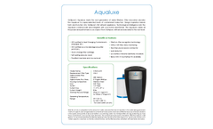 Model Aqualuxe - Drinking Water Systems - Datasheet
