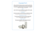 Model Aquaperform - Under Counter Water Filter - Datasheet