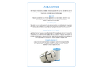 Model Aquaversa - Under Sink Water Filter - Datasheet