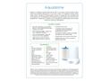 Model Aquadome - Kitchen Water Filter - Datasheet