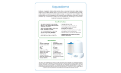 Model Aquadome - Kitchen Water Filter - Datasheet