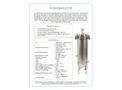 Multipure - Model Aquasource - Whole House Water System - Datasheet