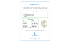 Multipure - Model Aquasplash - Bathtub Water Filter - Datasheet