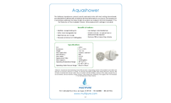 Multipure Vitalic - Model Aquashower - Shower Head Filter - Datasheet