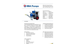 BBA Pumps B60-220 High Head Centrifugal Pump - Technical Specifications