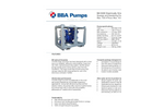 BBA Pumps BA100K D193 Electrically Driven Sewage and Dewatering Pump in Frame - Technical Specifications