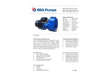 BBA Pumps B60-180 - High Head Self Priming Centrifugal Pump - Technical Specifications