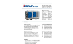 BBA Pumps BA180E Dewatering and Sewage Pump - Technical Specifications