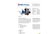 BBA Pumps B70-250 High Head Centrifugal Pump - Technical Specifications
