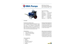 BBA Pumps B85 Self-Priming Centrifugal Pump - Technical Specifications