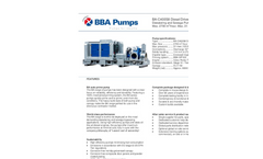 BBA Pumps BA-C400S8 D559 Water Transfer Pump - Technical Specifications