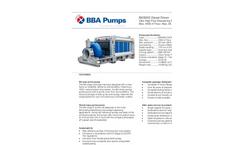 BBA Pumps BA500G D675 Water Transfer Pump - Technical Specifications