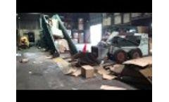 Maren Propak 2R185 (Propak 60-2R) Two Ram baling OCC Corrugated Cardboard Gaylords Video