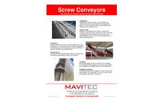 Mavitec - Screw Conveyors Brochure