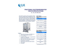 Fractional Electrodeionization Fedi Rx Specifications 5X, 10X, 20X & 30X Datasheets