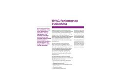 HVAC Performance Evaluations Brochure