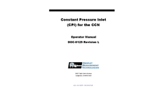 Operator Manual: Constant Pressure Inlet (CPI) for CCN