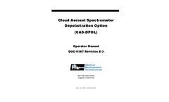 Cloud Aerosol Spectrometer Depolarization Option (CAS-DPOL) - Operator Manual