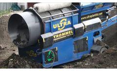 Trommel Screen Machine for Topsoil Compact Trommel Screen, Soil Screen - Video