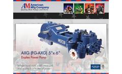 American AXG (FG-AXG) Duplex Power Pump Datasheet Brochure