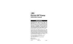 Escort ELF Pump Manual