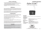 Zefon - Model Z-LITE-IAQDC DC - Powered Air Sampling Pump - Manual