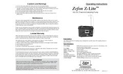 Zefon - Model Z-LITE-IAQDC DC - Powered Air Sampling Pump - Manual