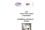 CMR - Model Type As2 - One And Two Zone Alarm Annunciators - Manual