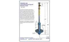 FreezeFlow - Model 2131RF - Fairweather Roof Hydrant - Datasheet